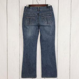 DKNY SOHO Medium Wash Boot Cut Jeans NWOT Size 8